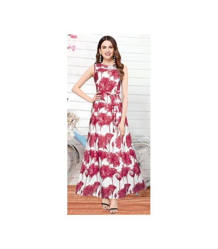 Premium Silk Parle Pink Gown