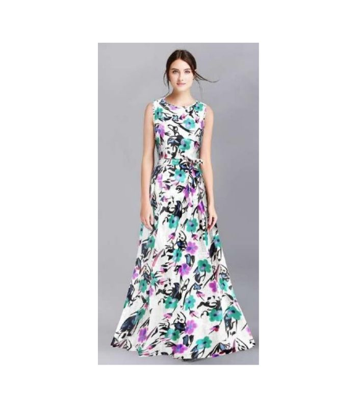 Banglory satin silk gown
